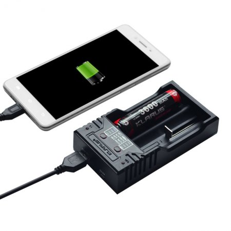 BATTERI LADDARE KLARUS K2 MED POWERBANK